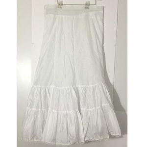 White Full Length Petticoat 20W